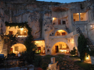 Turkey-tour-packages-Cappadocia-tours-rock-hotel-night